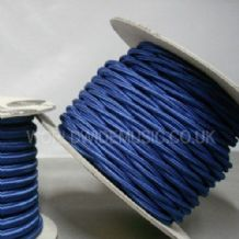 TWIST 2 Core Braided Fabric Cable Lighting Lamp Flex Vintage - ROYAL BLUE